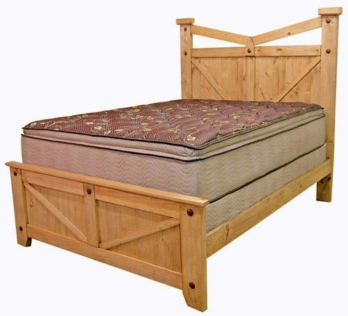 Queen Santa Fe Bed Rustic Furniture Great Western Co