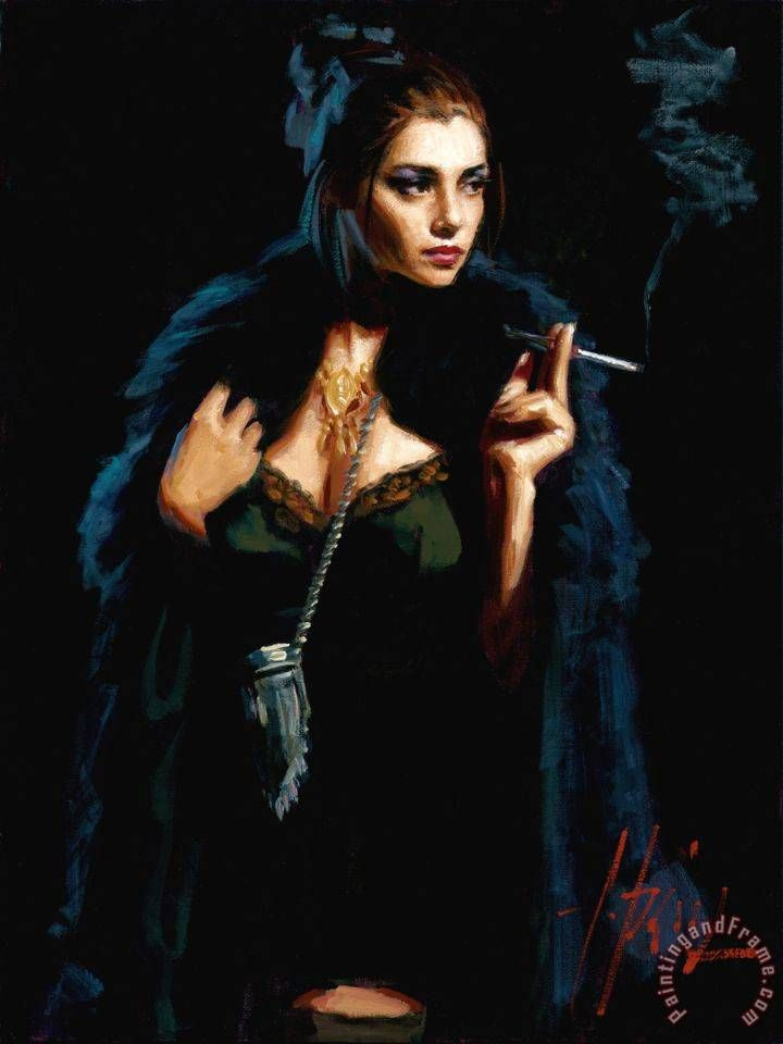 fabian perez prints | Blue Rabbit II painting - Fabian Perez Blue Rabbit II Art Print