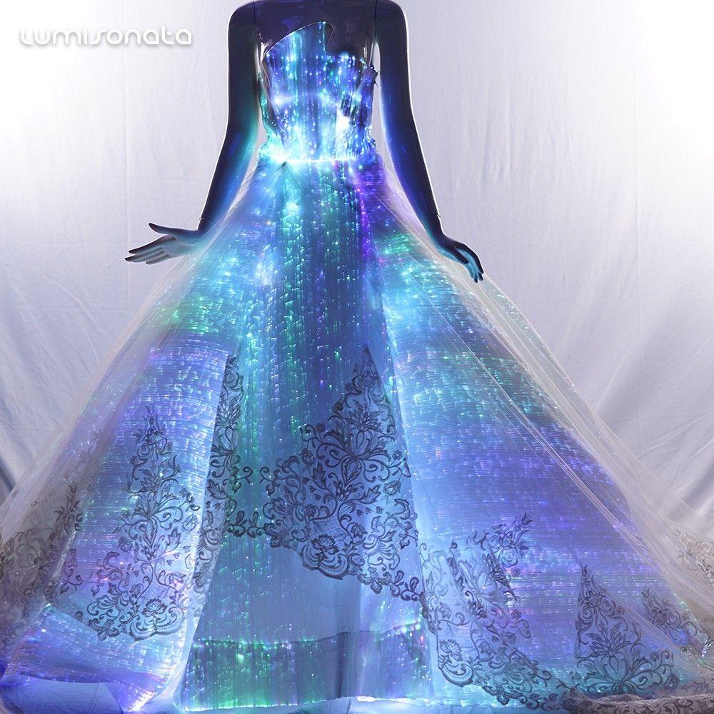 glow in the dark wedding dress,Led fiber optic bridal wedding gown,glowing dress – Bridal Fashion