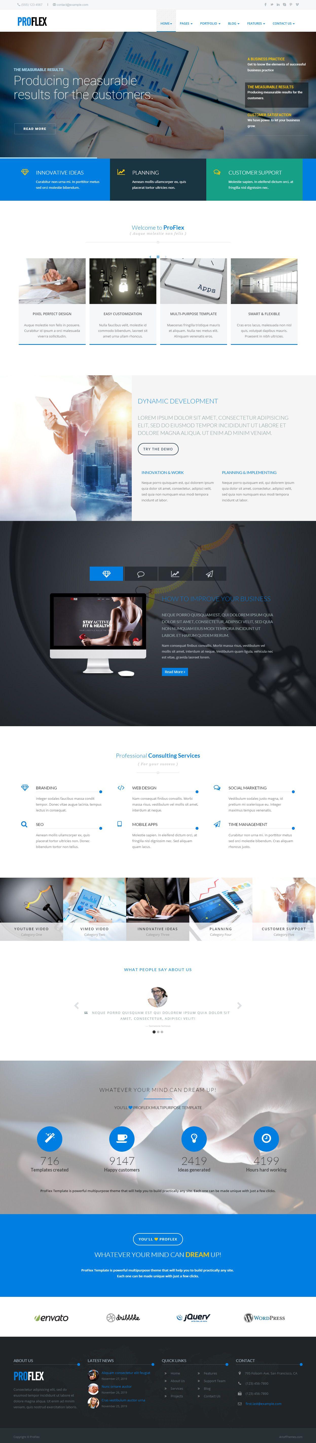 ProFlex - Premium Responsive Multi-Purpose HTML5 Template