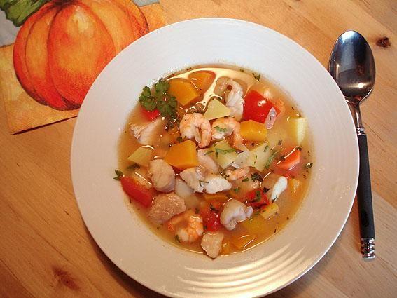 Rezept: Kürbis-Fisch-Suppe
