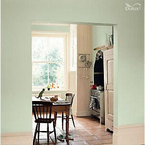 Dulux Kitchen Matt Emulsion Paint Willow Tree 2 5l Green Kitchen Walls Home Light Green Kitchen