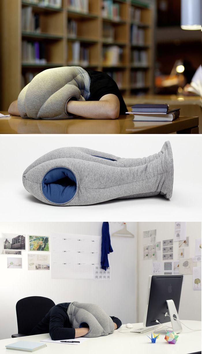 ostrich pillow by kawamura ganjavian
