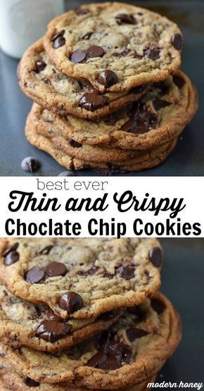 Thin and Crispy Chocolate Chip Cookies – Modern Honey