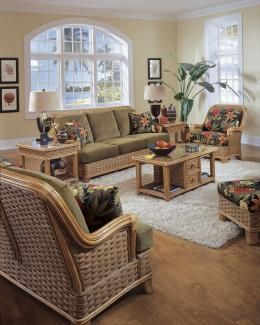 Somerset By Braxton Culler Williamsburg Wicker Furniture Sunroom Living Room Collections