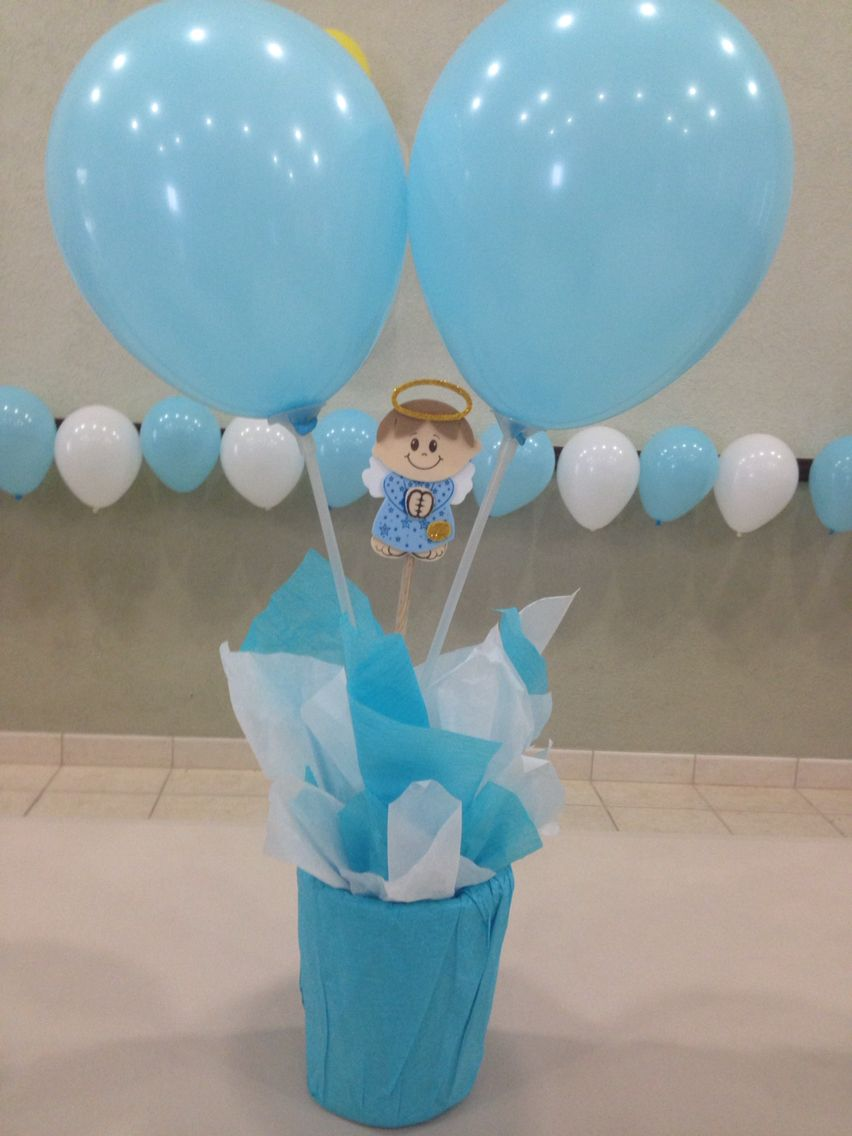 Centro de mesa baby shower little boy ni o little for Mesa baby shower nino
