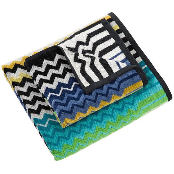 Missoni Home Stan Towel - 170 - Set of 2 ($78) ❤ liked on Polyvore featuring…