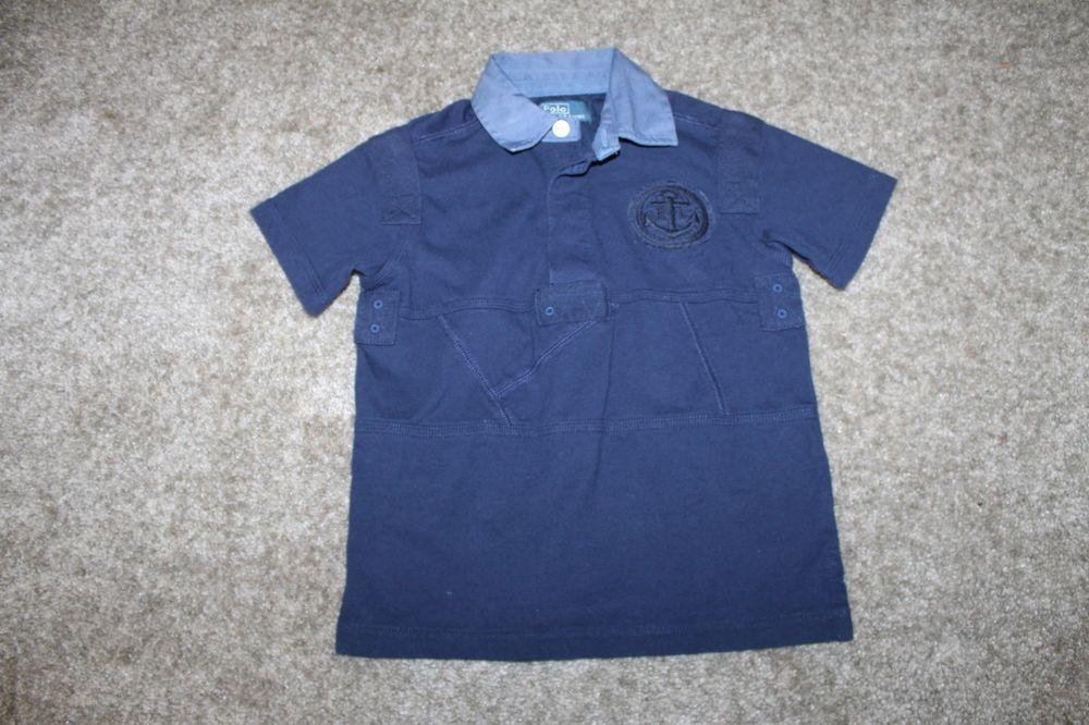 f634fe824 ... ireland ralph lauren boys navy blue short sleeve cotton polo shirt size  3 3t ralphlauren d24b8