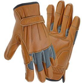 Lowes Work Gloves >> Kobalt X Large Men S Polyester Leather Palm Work Gloves