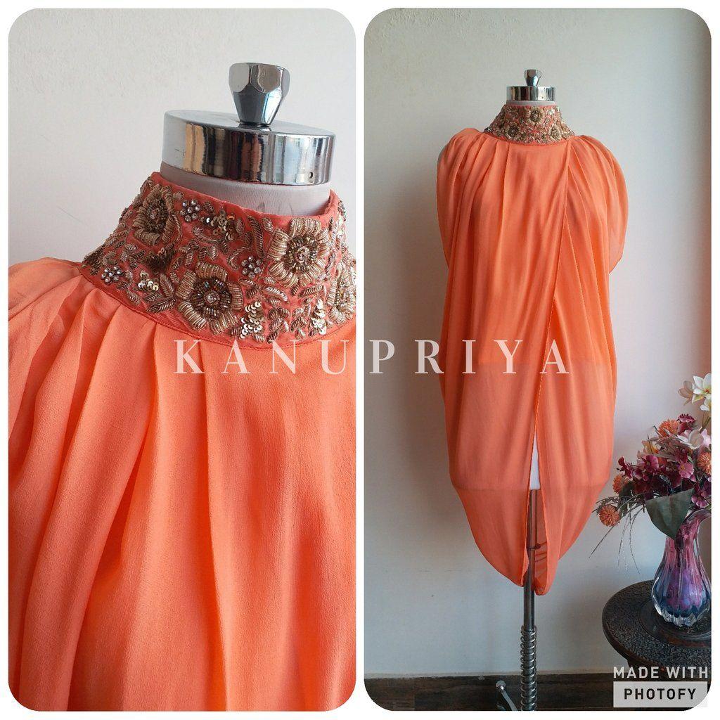 Shaded Drape Top By Label Kanupriya Whatsapp 9694496961 Www Labelkanupriya Com Drape Dress Pattern Draped Dress Drape Gowns