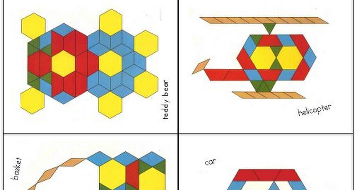 Pattern Blocks 2 Pdf Pattern Blocks Kindergarten Art Shapes