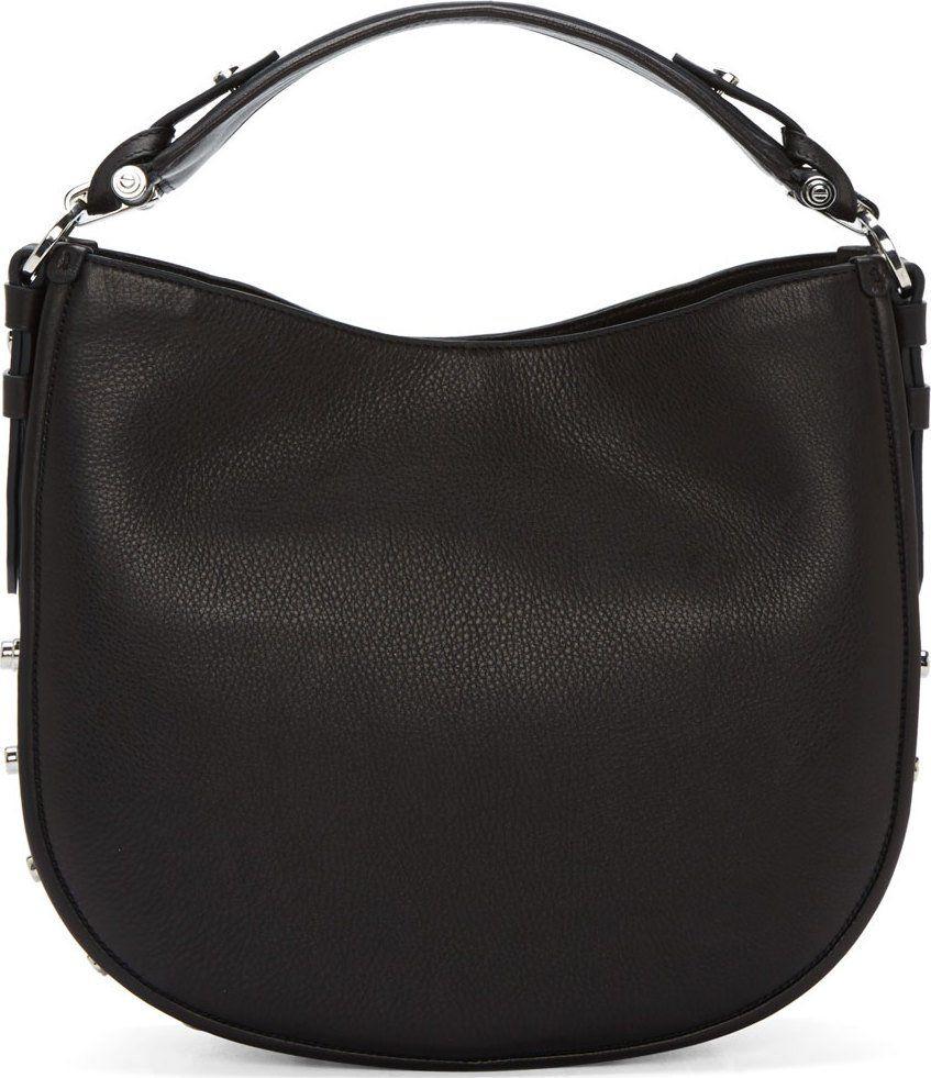 Givenchy Black Leather Obsedia Small Shoulder Bag