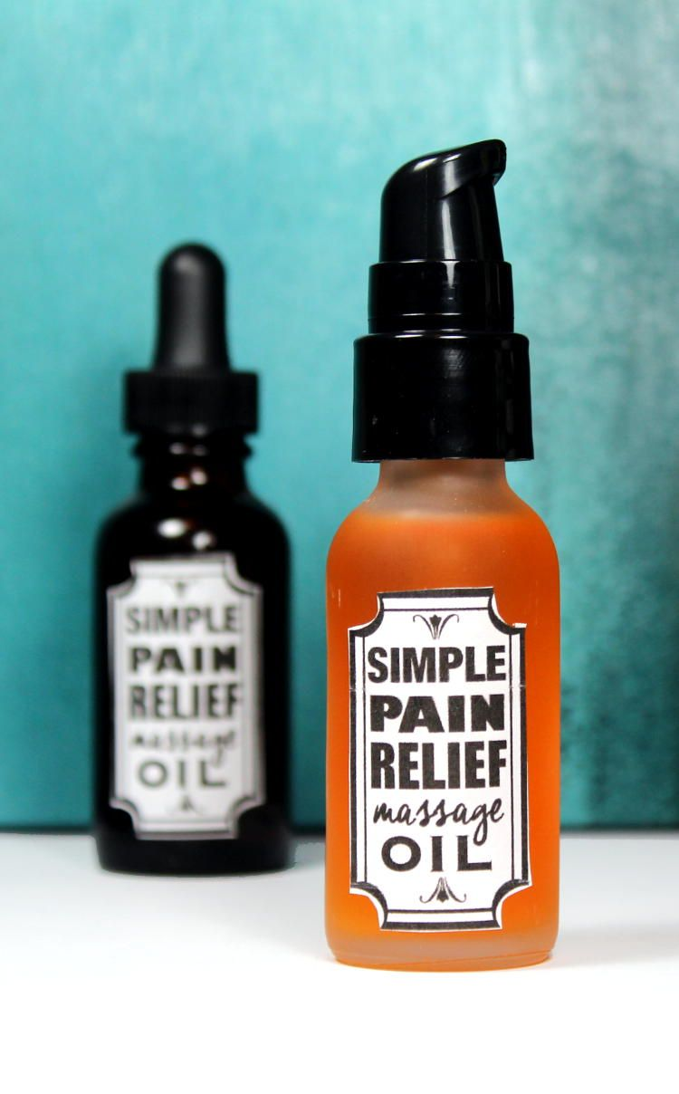 Learn how to make this simple 3-ingredient pain relief massage oil recipe  to help relax tight muscles, soothe pain and reduce inflammation.