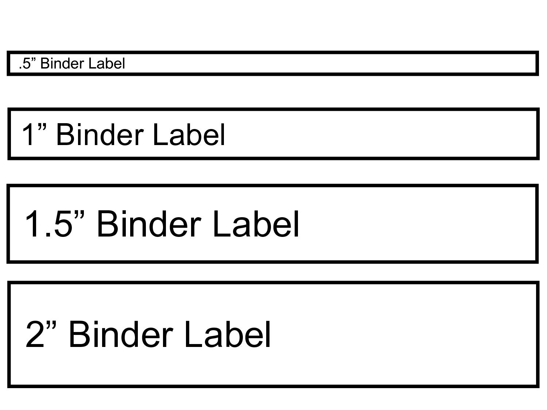 Printable Binder Labels Free