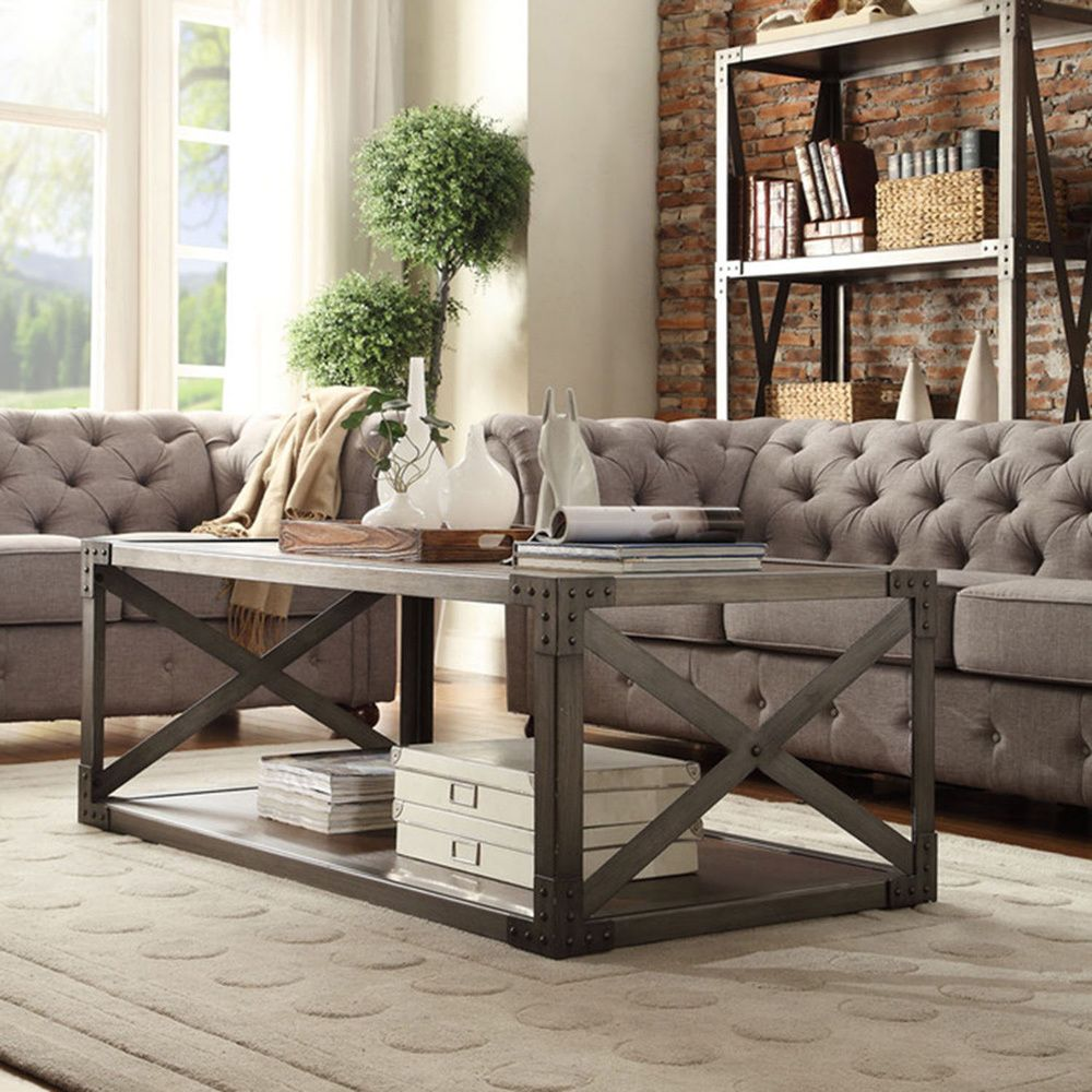 INSPIRE Q Caicos Vintage Industrial Modern Bracket Metal Coffee Table |  Overstock Shopping - Great