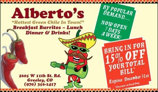 deals at albertos