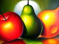 Resultado De Imagen Para Luz Y Sombra En El Dibujo Artistico Fruit Painting Apple Painting Modern Abstract Painting