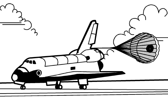 45+ Space Shuttle Clipart Black And White