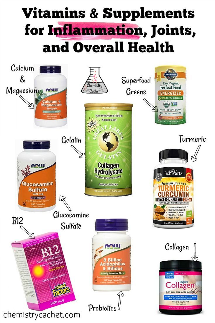 Vitamins & Supplements Perfect for Inflammation, Joints, Health