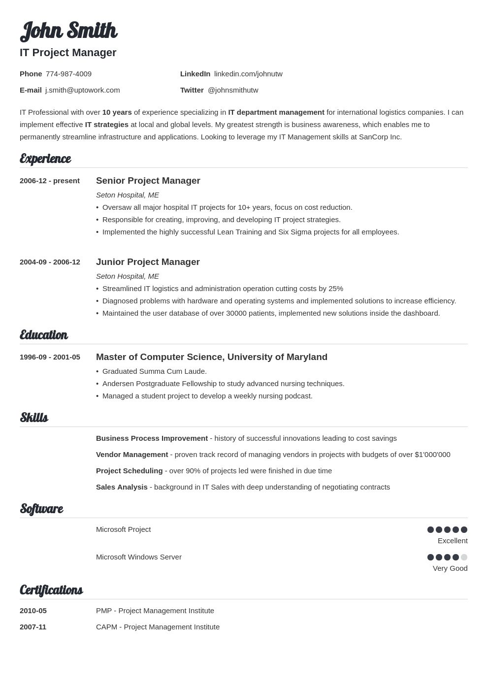 41++ How to fill out a resume Examples
