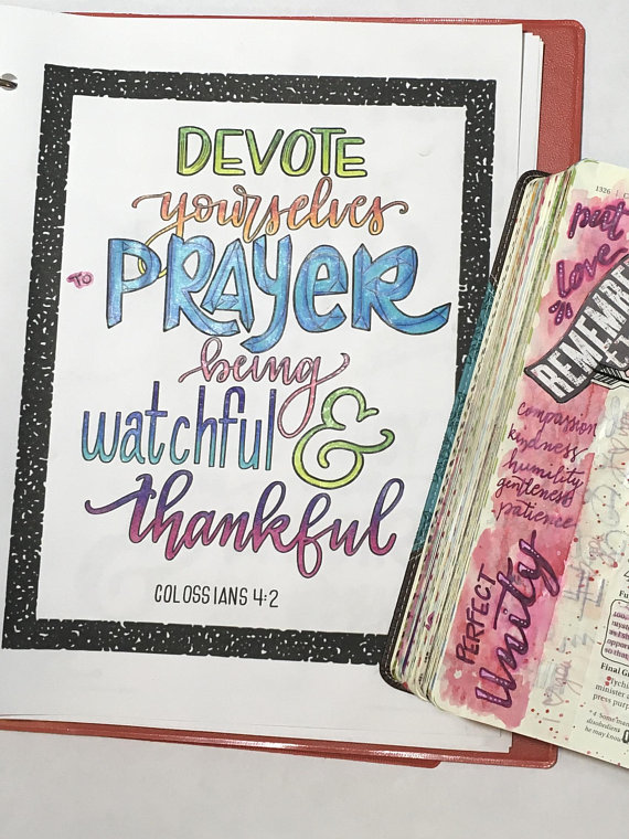 Prayer Journal Coloring Pages