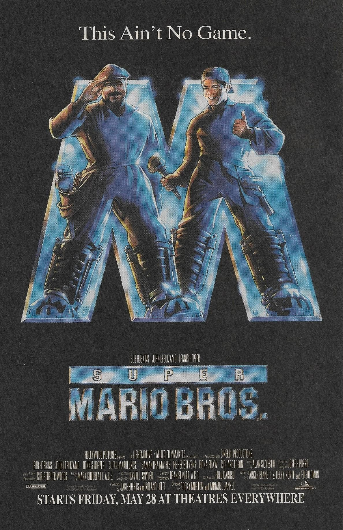 I found this Super Mario Bros. movie advertisement in one