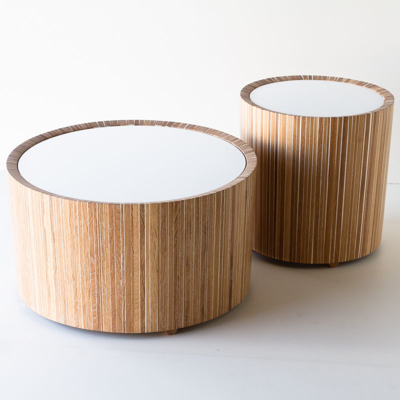 Stevige Side Table.Drum Table Wood