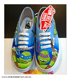 TEENAGE MUTANT NINJA TURTLES CUSTOM PAINTED VANS FROM £55