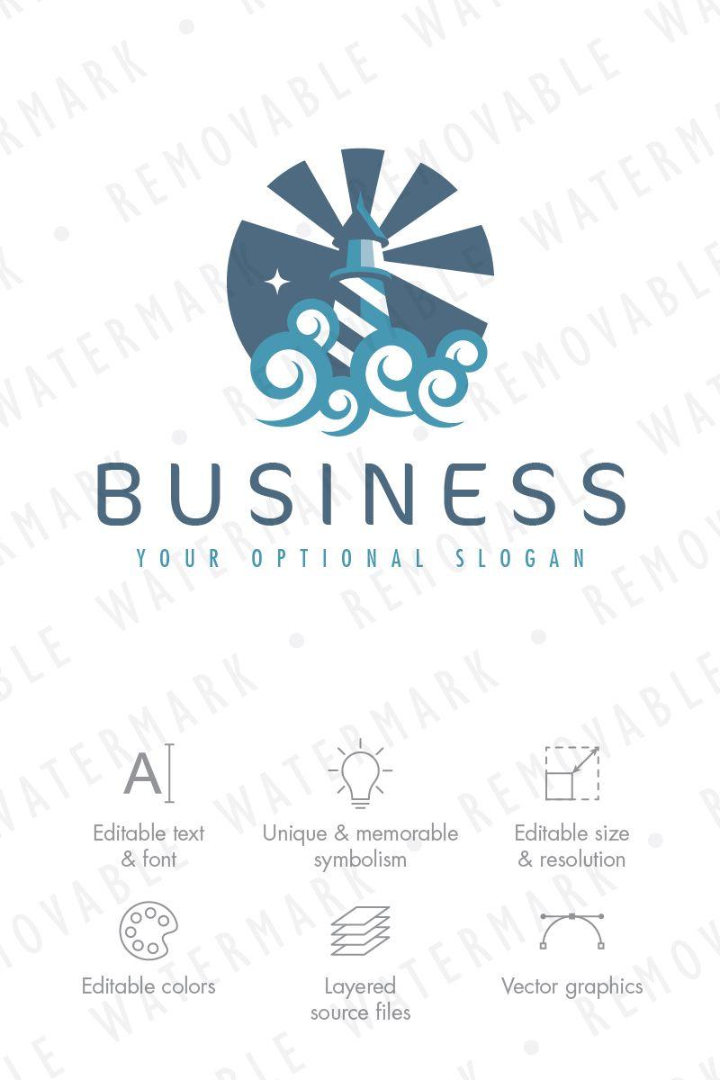 beacon of light logo template advertising poster pinterest