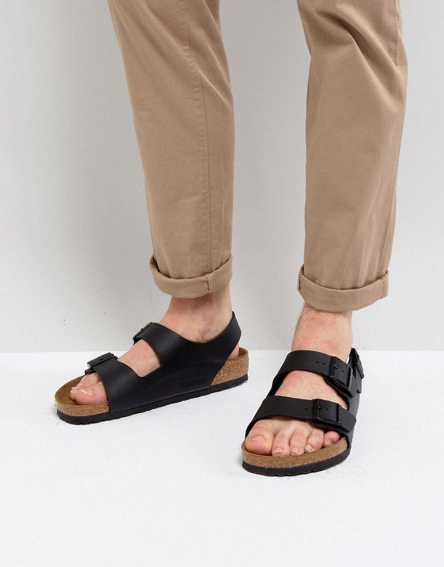 24f5a6351fad Birkenstock Milano Sandals in Black - Black