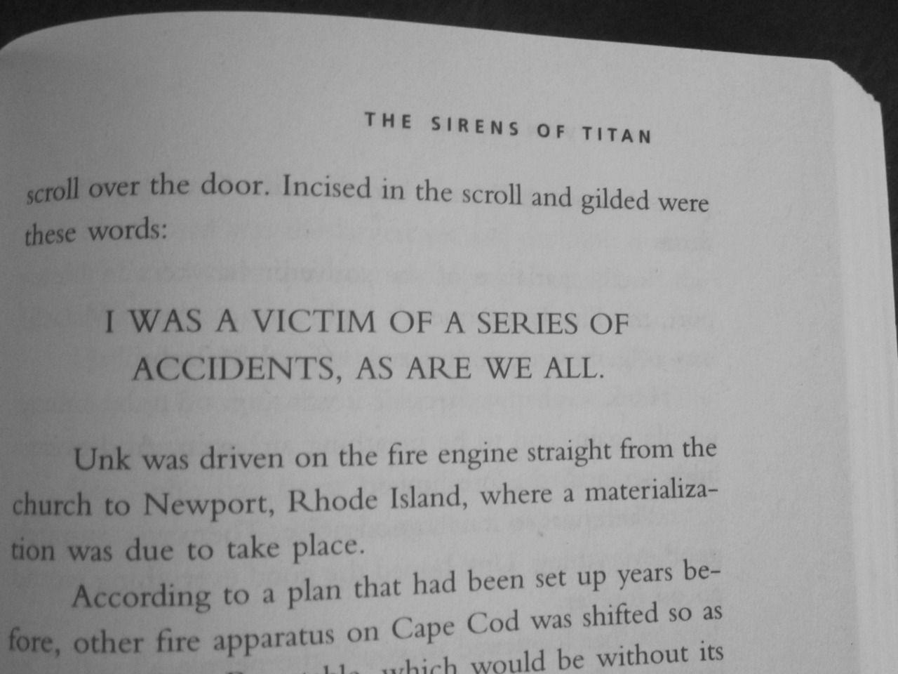 The Sirens Of Titan By Kurt Vonnegut I Was A Victim Of A Series
