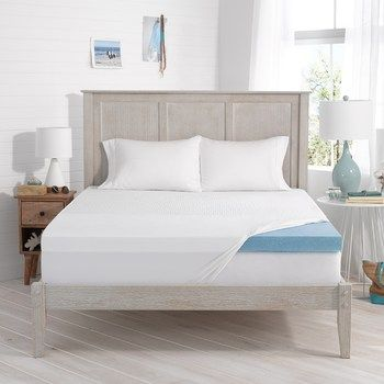 Serta 3 Inch Soothing Cool Gel Memory Foam Mattress Topper College Move In In 2019 Memory