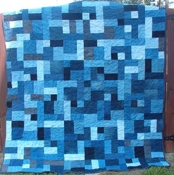 denimybr3.jpg (576×582) good idea for single color/ombre quilt ... : jean quilts patterns - Adamdwight.com