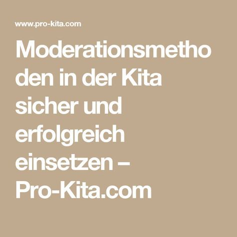 Moderationsmethode kennenlernen