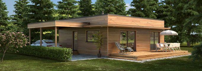maison bois moderne C61 | plan maison | Pinterest