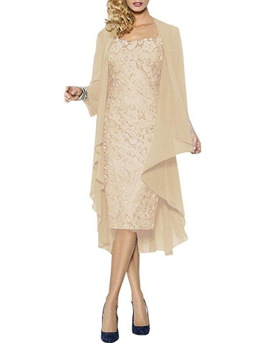 HWAN Lace Mother of the Bride Dresses Formal Gowns with Chiffon ...