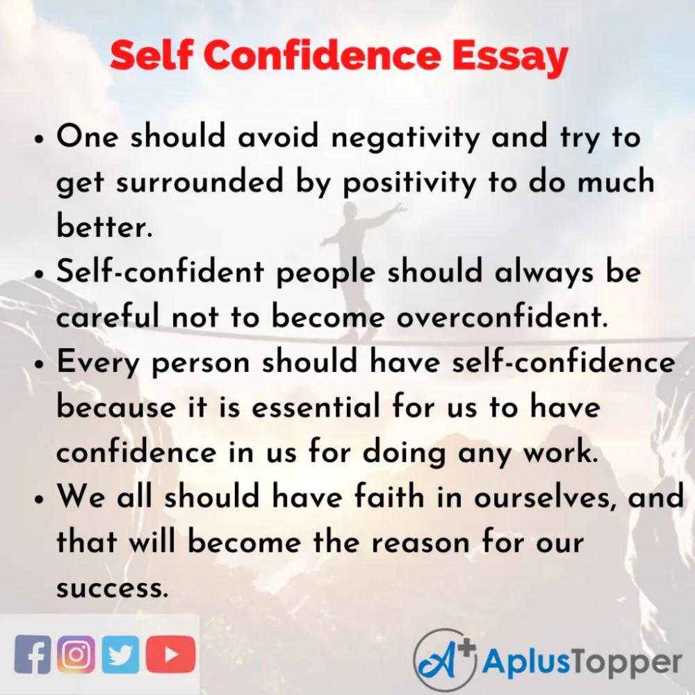 Selfconfidenceessay Essayonselfconfidence Self Confidence Essay