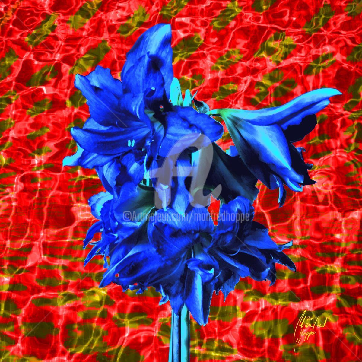 Warum nicht mal Blau (Digitale Künste) von Manfred Hoppe