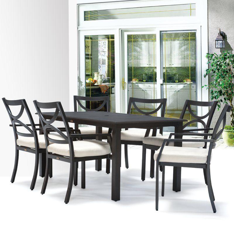 Verona 7 Piece Dining Set with Cushions | 7 piece dining ...
