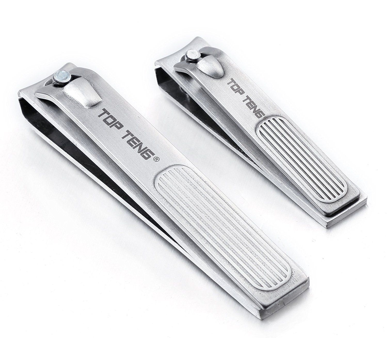 TOP TENG' Deluxe Brushed Stainless Steel Sharpest Nail Clippers
