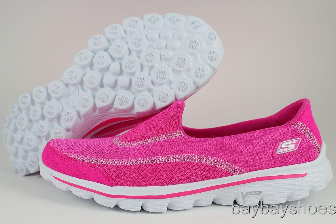 skechers pink go walk