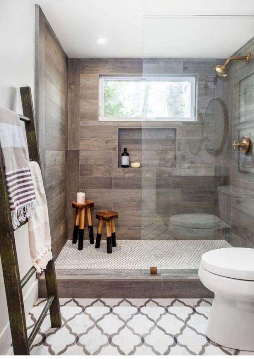 Rustic farmhouse bathroom decor ideas 43 Rustic