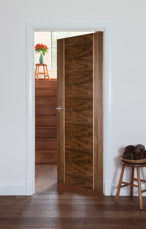 Salamanca Walnut Bespoke Midcentury Interior Doors Wood Doors Interior Interior Door Styles