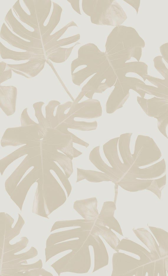 Basic Monstera Leaf REMOVABLE Fabric Wallpaper - Peel & Stick!
