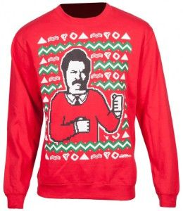Ron Swanson Ugly Christmas Sweater | Parks and Recreation | Pinterest