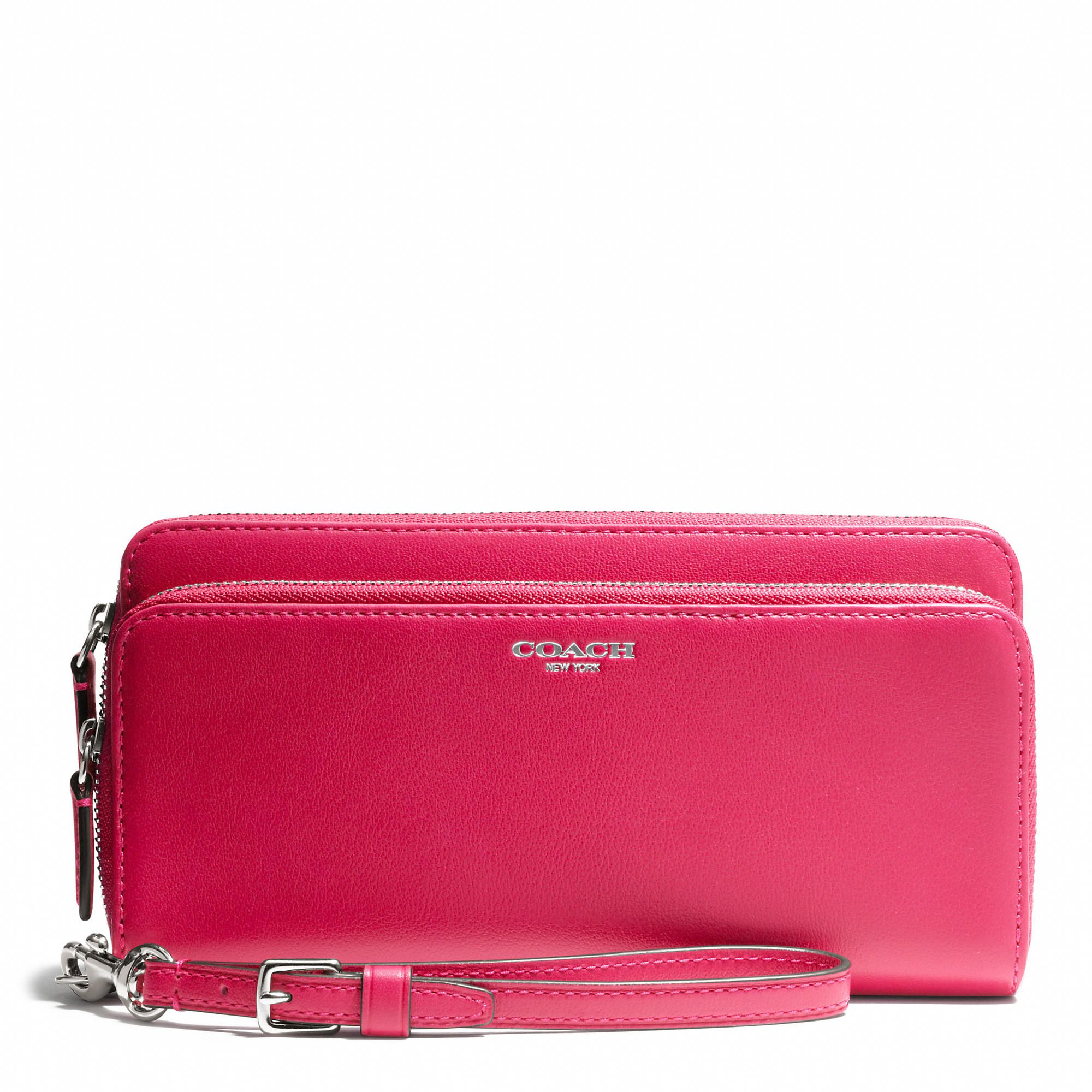 Coach :: LEGACY DOUBLE ACCORDION ZIP WALLET IN LEATHER.  I think this one will be the winner.  It was