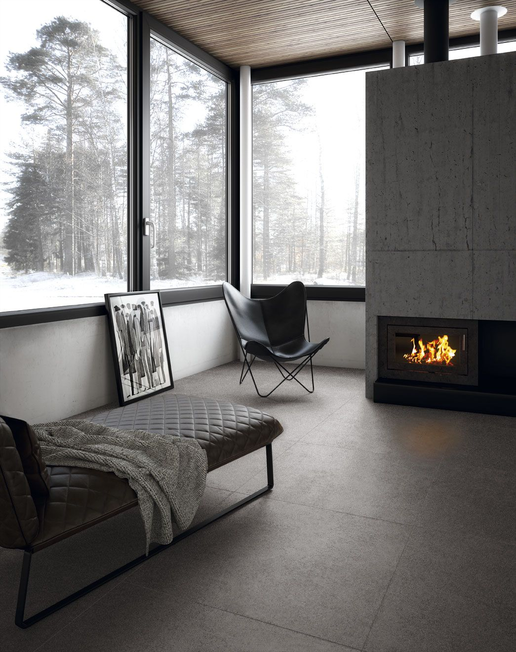 Fade Plomo Natural 100x100 Cm Combines A Cement Look With Aged