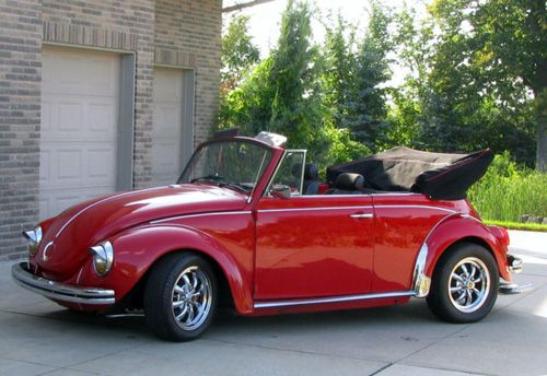 1971 Super Beetle Convertible Red With Red Black Interior Everything New Pan Off Restoration New Flo Vw Beetle Classic Beetle Convertible Volkswagen Beetle