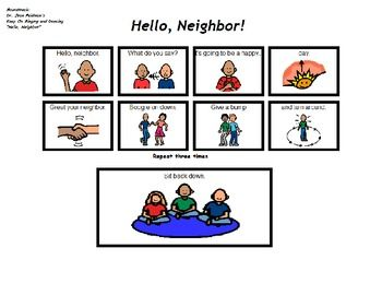 Song board dr jeans hello neighbor work transitions morning greeting song hello neighbor by dr jean includes fun actionsdifferent words can be used ex its going to be a beautiful m4hsunfo
