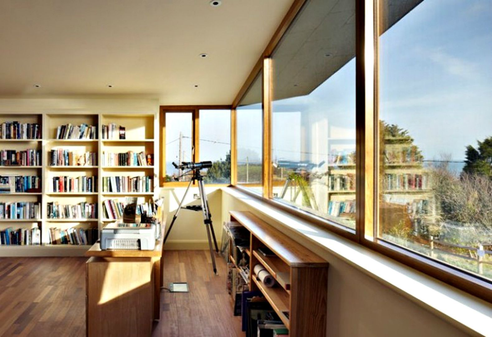 House wooden window design  almanacus sustainable split house adapts to the aging owners